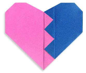 折纸破碎的心和步骤图解