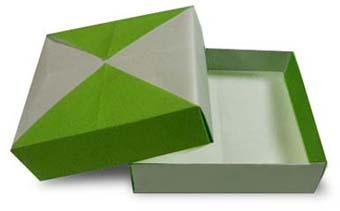 折纸小扁盒子和步骤图解