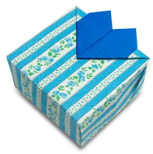 折纸心型盒子和步骤图解