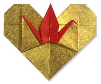 鹤心折纸和步骤图解