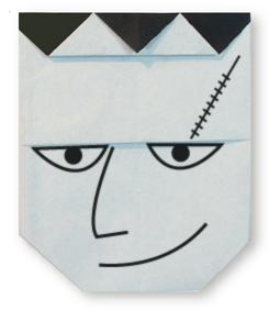 折纸人物脸的方法和步骤图解