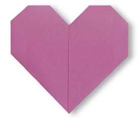 心的折纸和步骤图解