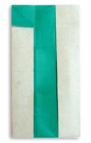 折纸数字1和步骤图解
