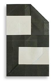 折纸数字2和步骤图解