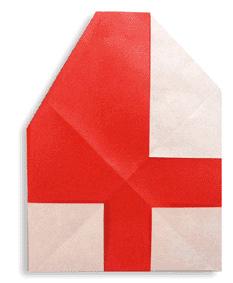 折纸数字4和步骤图解
