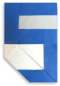 折纸数字5和步骤图解