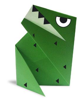 折纸霸王龙的方法和步骤图解