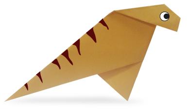 禽龙折纸和步骤图解