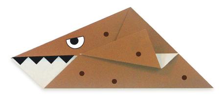 巨颚龙折纸和步骤图解
