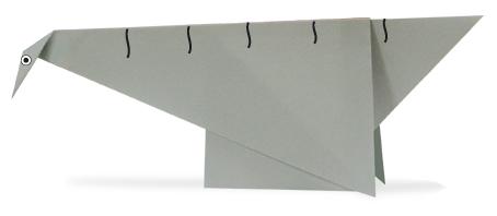 长颈震龙折纸和步骤图解