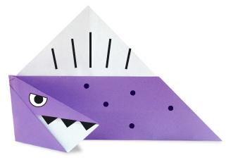 棘龙折纸和步骤图解
