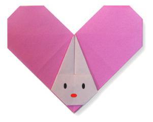 折纸心形小兔子和步骤图解
