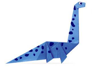 长颈震龙的折纸和步骤图解