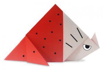 三角龙折纸和步骤图解