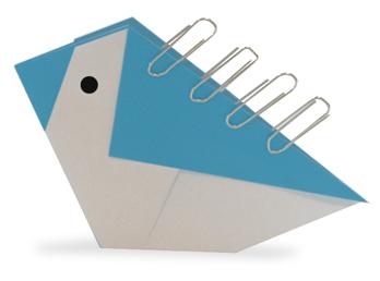 折纸小鸟夹子方法和步骤图解