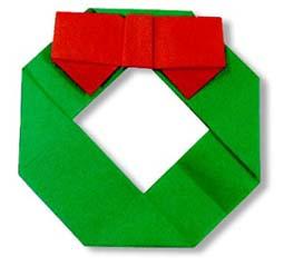 折纸圣诞花环的方法和步骤图解