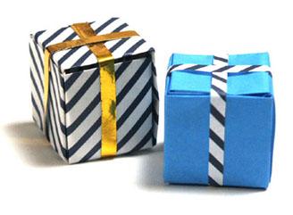 折纸礼物盒的方法和步骤图解