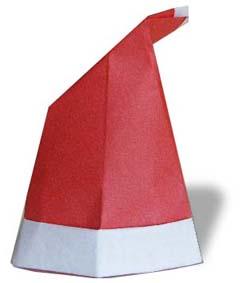 折纸圣诞帽的方法和步骤图解
