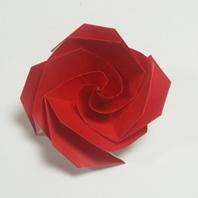 康乃馨折纸方法和步骤图解