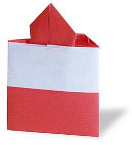 折纸草莓蛋糕和步骤图解