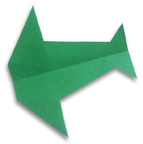 燕形飞机的折纸和步骤图解