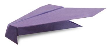 鸢式飞机的折纸和步骤图解