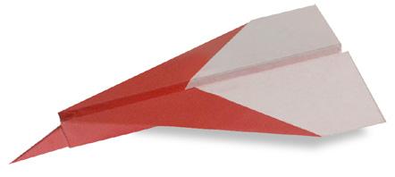 喷气式飞机的折纸和步骤图解