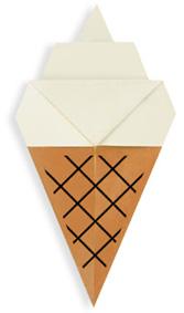 折纸冰激凌和步骤图解
