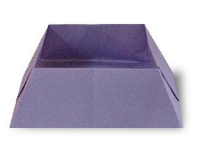 折纸点心盒方法和步骤图解