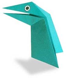 折纸会张嘴的恐龙和步骤图解