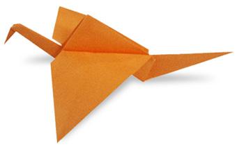 折纸振翅的鸟和步骤图解