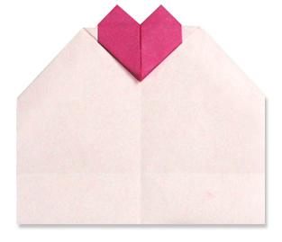 折纸心卡片和步骤图解