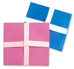 折纸礼品盒的方法和步骤图解