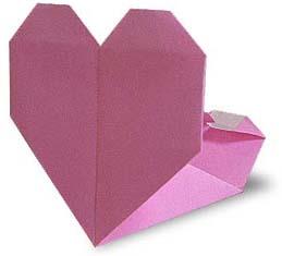 折纸心形小包和步骤图解