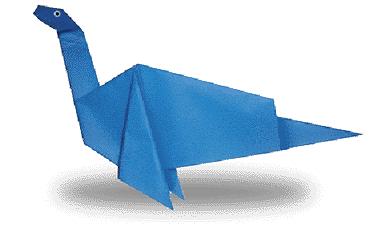 蛇颈龙的折纸和步骤图解