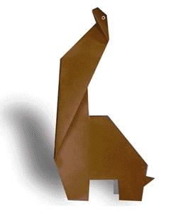 腕龙的折纸和步骤图解