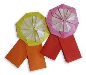 奖牌的折纸和步骤图解