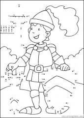 数字连线画人物:士兵