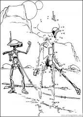 数字连线画:外星人
