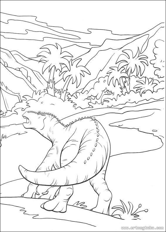 恐龙填色画 童话故事填色图片 儿童图库