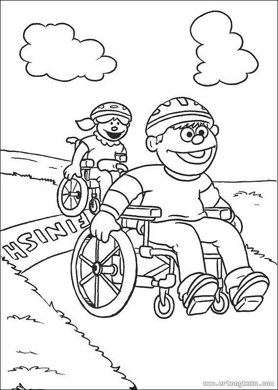 芝麻街填色画 童话故事填色图片 儿童图库
