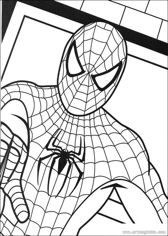 Disegni spiderman da colorare gratis