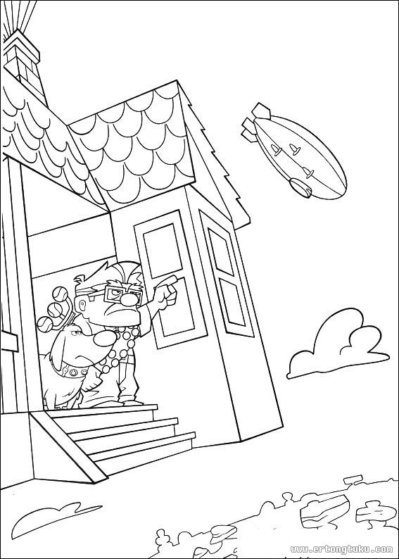 House From Up Coloring Page