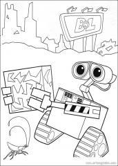 机器人瓦力填色画