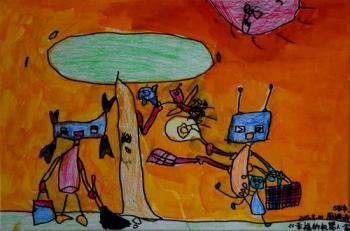 幸福的机器人一家