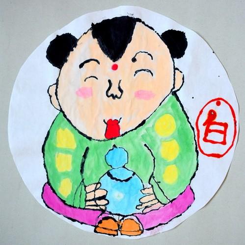 优秀奖水墨画-阿福