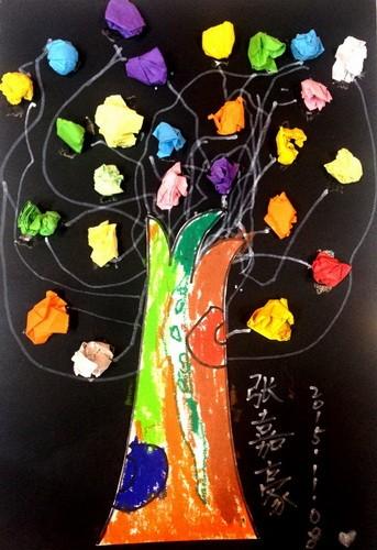 银奖手工画-棒棒糖树