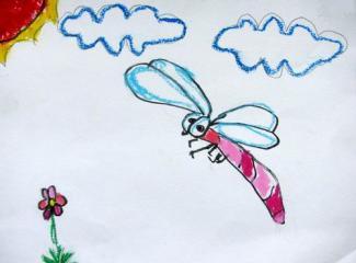 铜奖油棒画-小小蜻蜓