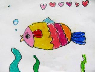 铜奖油棒画-美丽的海底世界