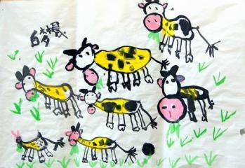 铜奖水墨画-小牛的春天